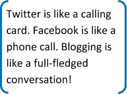 Blogging is a full fledged conversation quote